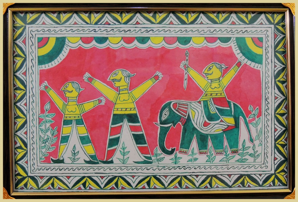 Painting in Manjusha Art